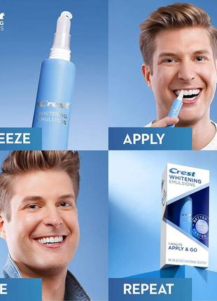 Crest whitening emulsions with wand applicator новинка