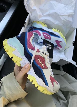 Кроссовки umbro bumpy color женские белые, жёлтые, синие розовые чёрные