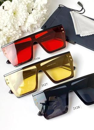Солнцезащитные очки-маска с желтыми линзами  2127