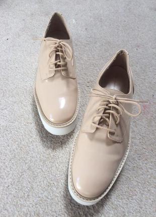 Крутые туфли оксфорды zara