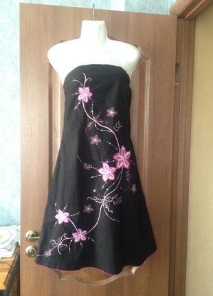 Платье jane norman c фантастически красивой вышивкой