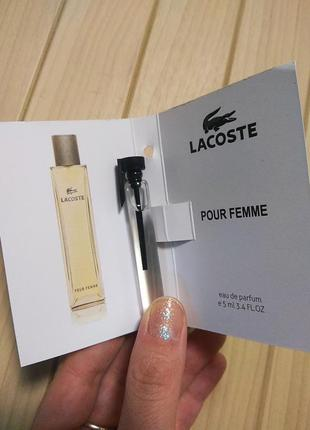 Духи парфюм аромат lacoste pour femme от lacoste ☕ объём 5мл