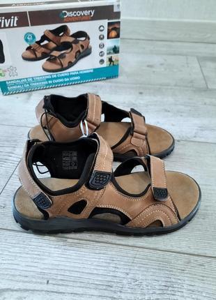 Мужские кожаные сандалии на липучках crivit р.41