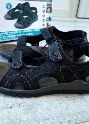 Мужские кожаные сандалии на липучках crivit р.45