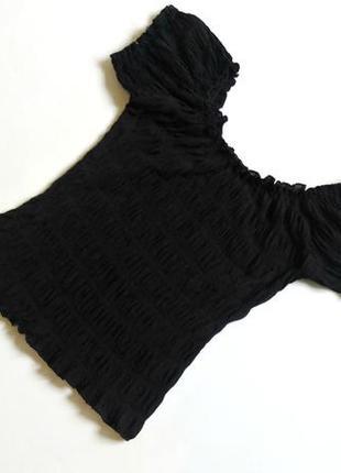 Ефектний топ зі спущеними плечами/топ со спущенными плечами/майка/футболка