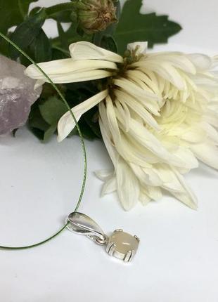 Серебряный кулон с натуральным эфиопским опалом