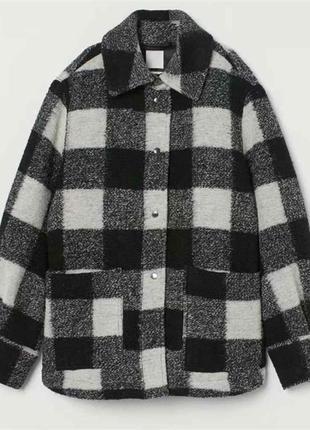 Куртка-рубашка в клетку h&m