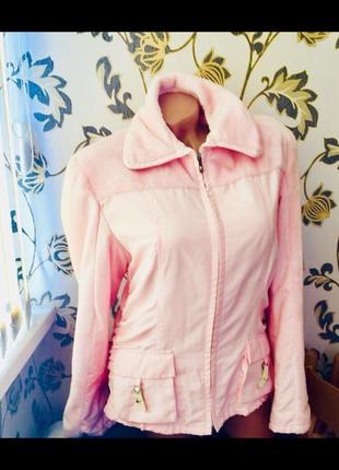 Итальянская куртка пиджак жакет розовый