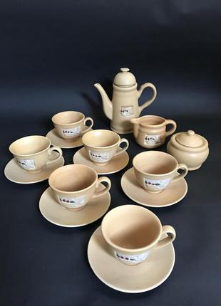 Кофейный чайный сервыз набор из 16 предметов
