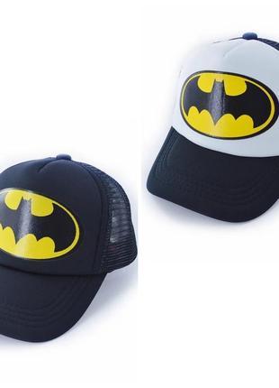 Детская кепка тракер бэтмен (batman) с сеточкой, унисекс