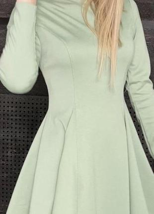Оливкове плаття трикотаж джерсі