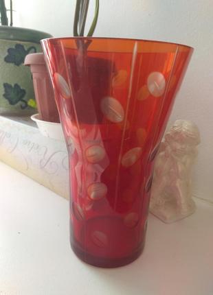 Продам вазу из цветного стекла