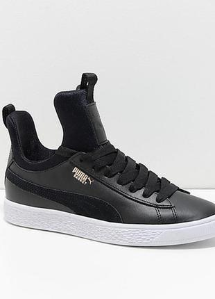 Кожаные кроссовки puma кроссовки чёрные оригинал🔥🔥🔥