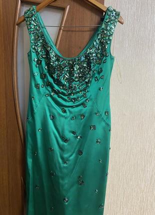 Атласное платье