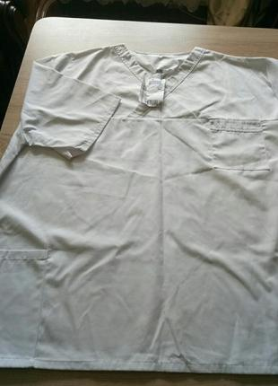 Медицинская блуза мужская. большой размeр.