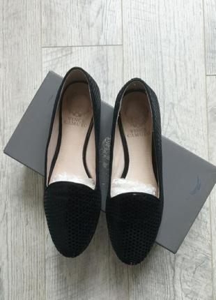 Лофери чорні замшеві туфлі натуральна замша gant zara mango 37 24