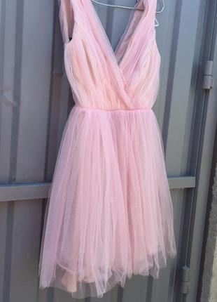 Платье короткое ,вечернее ,для выпускного. фатиновое