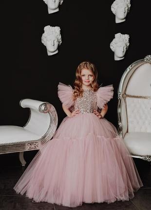 Нарядное роскошное детское платье на утреник