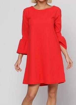 Алое платье new collection италия размер 42-44-46 оверсайз