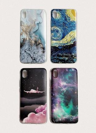 Комплект чехлов для смартфона xiaomi redmi 7a со скидкой. силиконовые бамперы (4 штуки)