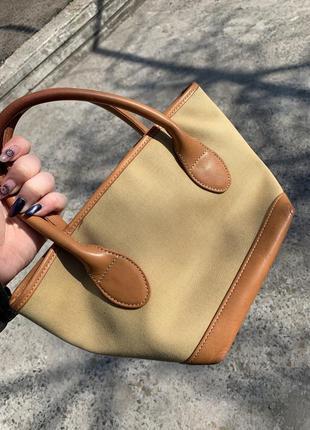 Винтажная сумочка barbour mini tote2 фото