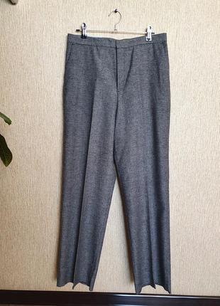 Стильные шерстяные  брюки прямого кроя uniqlo, оригинал