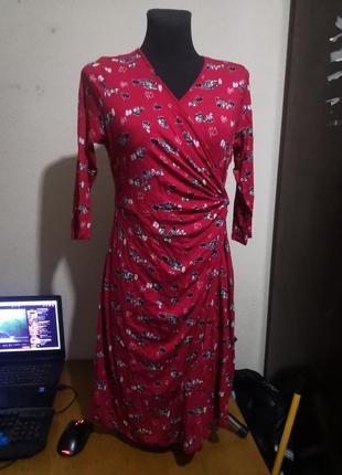 Платье миди узор