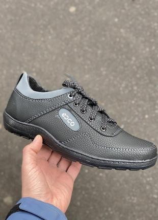 Мужские туфли кросовки черные демисезонные весна