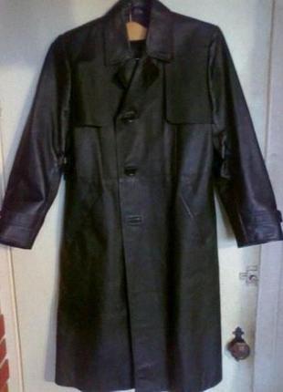 Индпошив новое кожа пальто 46-48р унисекс. наложенный платеж купить.