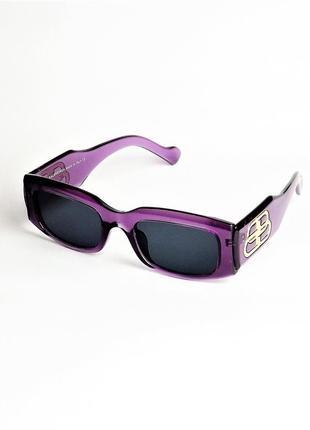 Солнцезащитные очки blncg 6945 сиреневые с темно-синей линзой