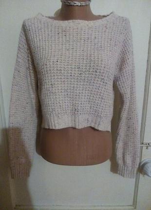 Укороченный свитер с длинным рукавом