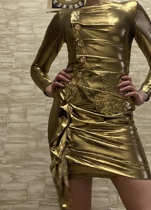 Платье сценическое золотое