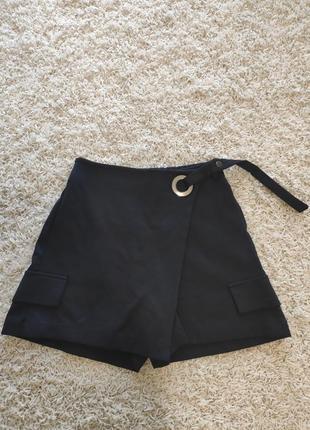 Женские юбка-шорты тёмно-синие