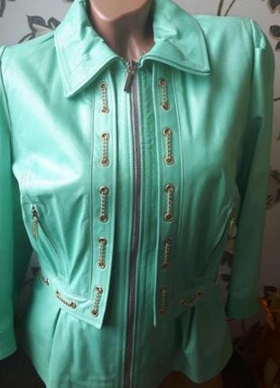 Roberta biagi новая кожаная куртка италия,размер l,шикарная кожаная куртка
