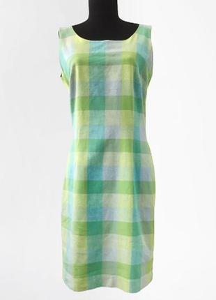 Летнее платье лен в составе (55%) laura ashley