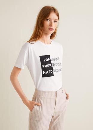 Модная футболка размер л mango