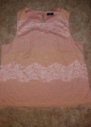 Нарядная ажурная блузка большого размера
