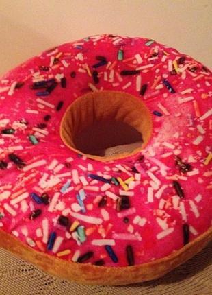 Подушка пончик с глазурью