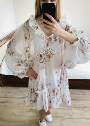 Плаття-туніка в квіти h&m