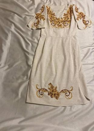 Вишитий комплект плаття+чоловіча сорочка