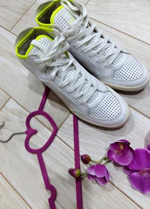 Кожаные высокие кроссовки, кеды kookai 40 размер/26,5 см