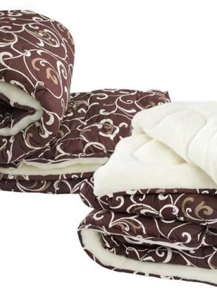 """Очень теплое меховое одеяло """"уют"""" из овчины двупальное 180х210 см"""