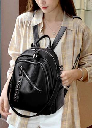 Женская сумка. кожаный рюкзак антивор. женская сумка. рюкзак женский