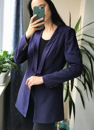 Фиолетовый женский пиджак жакет смокинг винтаж