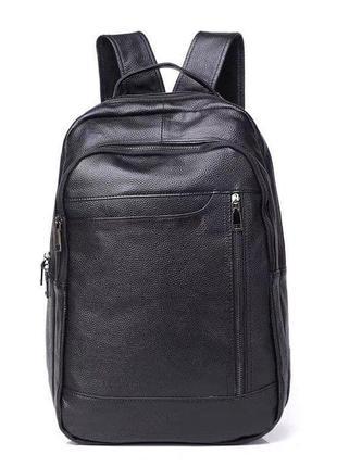 Мужской стильный кожаный городской рюкзак сумка портфель кожа шкіряний рюкзак