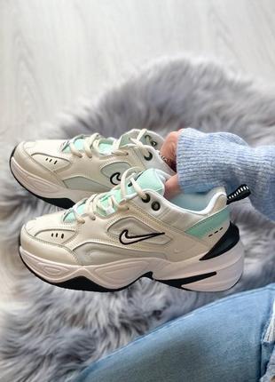 Nike m2k tekno женские кроссовки найк м2к белые (36-40)
