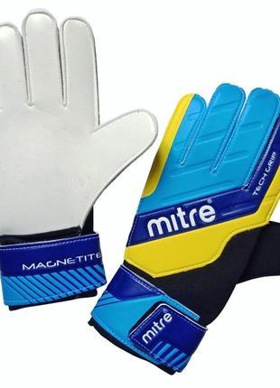Вратарские перчатки, футбольные перчатки mitre magnetite