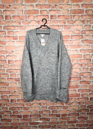 Шерстяной свитер кардиган h&m