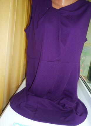 Трикотажное тёплое платье xl-xxl