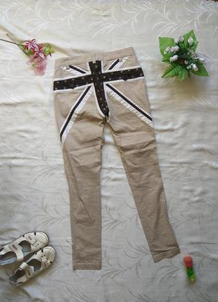 Plus-fine-дания брюки скинни штаны классические повседневные низька посадка с флагом